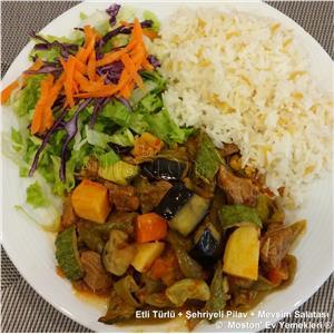 Etli Türlü + Pilav + Salata