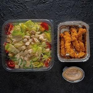 Karidesli Sezar Salatası