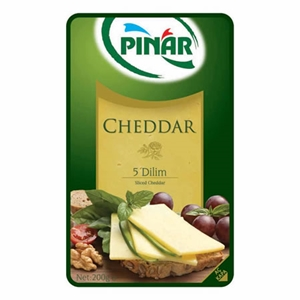 Pınar Cheddar Peyniri (5 Dilim) (200 gr.)