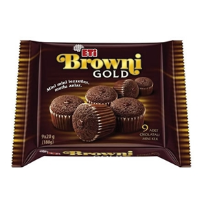 Eti Browni Gold Çikolatalı Kek Mini 9'lu Paket (180 gr.)