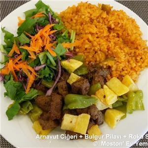 Arnavut Ciğeri + Bulgur Pilavı + Salata