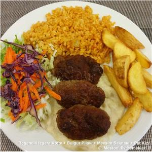 Beğendili Izgara Köfte + Bulgur Pilavı + Salata + Pat. Kızr.
