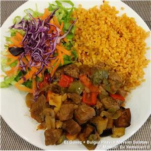 Et Güveç + Bulgur Pilavı + Salata