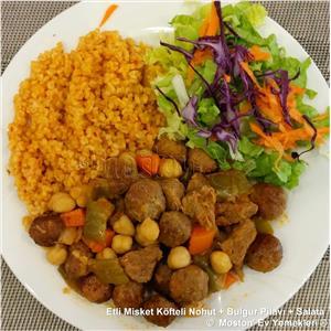 Etli Misket Köfteli Nohut + Bulgur Pilavı + Salata