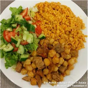 Etli Nohut + Bulgur Pilavı + Salata