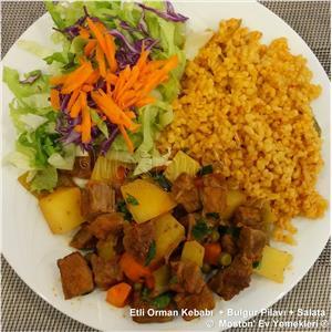 Etli Orman Kebabı + Bulgur Pilavı + Salata