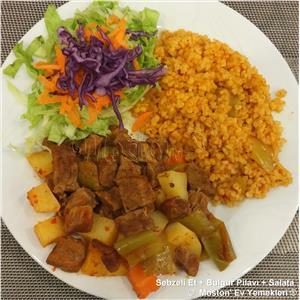 Sebzeli Et + Bulgur Pilavı + Salata