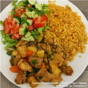 Tavuklu Orman Kebabı + Bulgur Pilavı + Salata