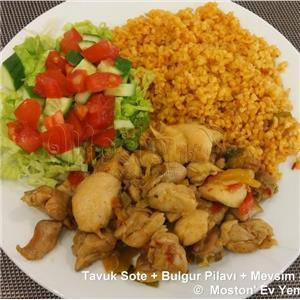 Tavuk Sote + Bulgur Pilavı + Salata